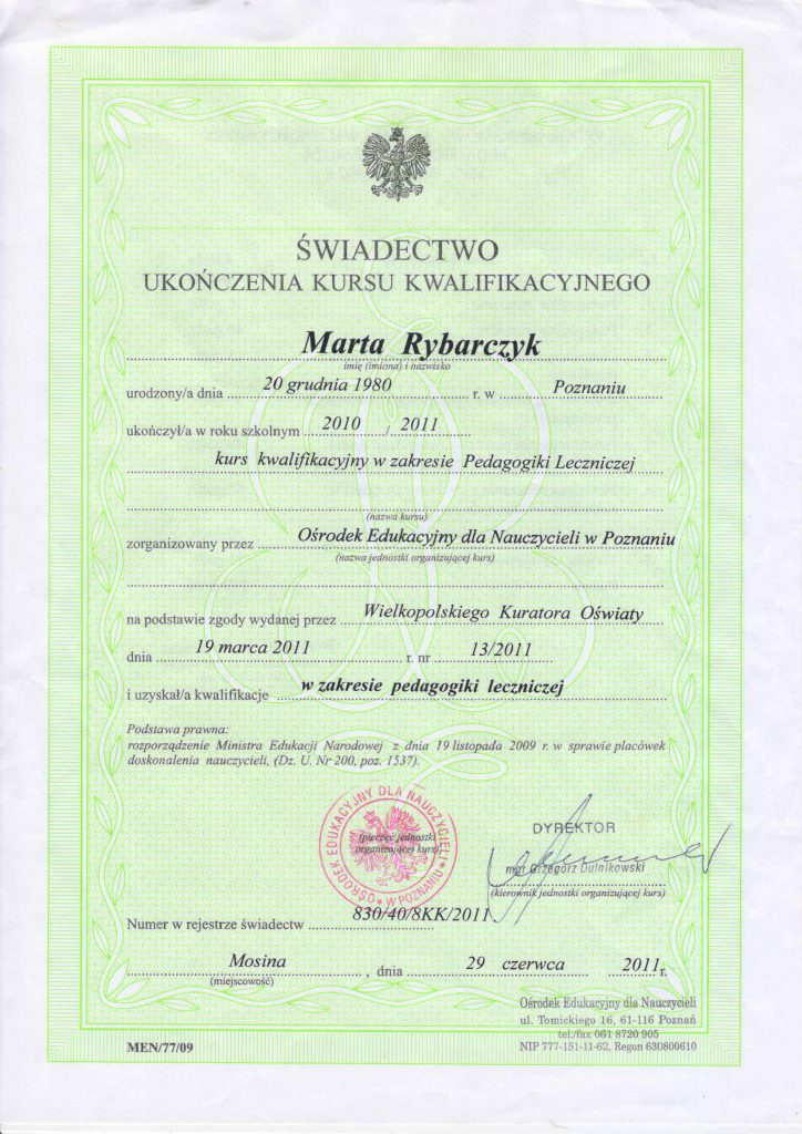 certyfikat-pedagogika-lecznicza